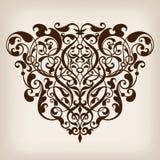 Угол рамки вектора винтажный барочный богато украшенный Стоковые Изображения