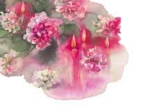 Угол свечей хризантем левый Стоковые Изображения RF