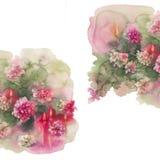 Угол свечей хризантем квадратный Стоковое Фото