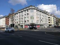 Угол улицы под Дюссельдорфом Солнцем Стоковая Фотография RF