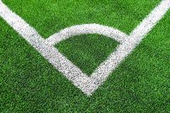 Угол футбола & x28; soccer& x29; поле стоковое изображение
