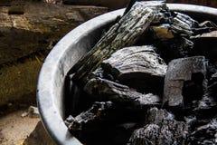 Уголь внутри Стоковая Фотография