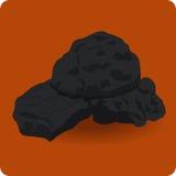 Уголь значка Стоковые Изображения