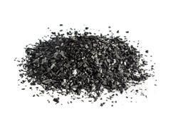 Уголь изолированный на белой предпосылке Стоковая Фотография