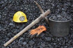 Уголь минирования Стоковое фото RF