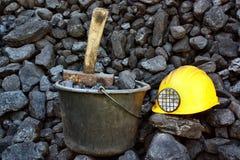 Уголь минирования Стоковые Фото