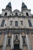 Угол Seraphic фасада церков Св.а Франциск Св. Франциск низкий Стоковая Фотография