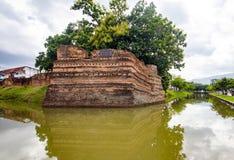 Угол Si Phum древняя стена в Чиангмае Стоковое фото RF