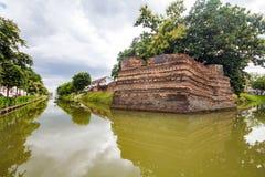 Угол Si Phum древняя стена в Чиангмае Стоковое Изображение RF