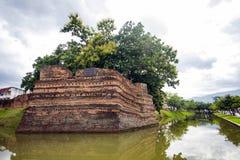 Угол Si Phum древняя стена в Чиангмае Стоковое Изображение
