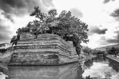 Угол Si Phum древняя стена в Чиангмае Стоковое Фото