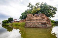 Угол Si Phum древняя стена в Чиангмае Стоковая Фотография RF