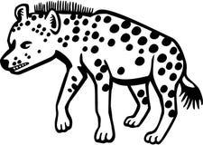Угрожая гиена иллюстрация вектора