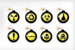угроза бомбы Бесплатная Иллюстрация