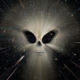 Угроза чужеземца вселенной стоковая фотография rf