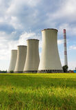 Угл-горя электростанция стоковые фото