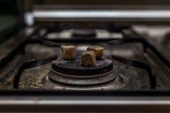 Угли кальяна горячие Стоковые Фото