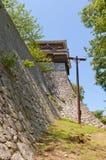 Угловая башенка замка Matsuyama, Японии Стоковые Фото