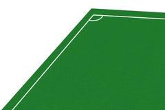 Угловое футбольное поле Стоковые Фото