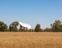 угловойой спутник тарелок установленный домом Стоковое Изображение RF