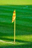 угловойой футбол флага поля Стоковая Фотография RF