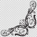 Угловой барочный элемент украшения орнамента Стоковое Изображение RF