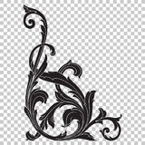 Угловой барочный элемент украшения орнамента Стоковая Фотография RF
