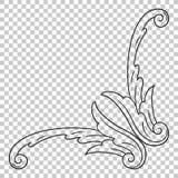 Угловой барочный элемент украшения орнамента Стоковые Фото