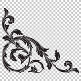 Угловой барочный элемент украшения орнамента бесплатная иллюстрация