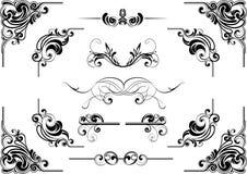 Угловой дизайн свирли Стоковые Изображения RF