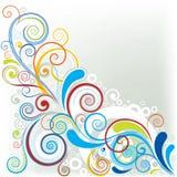 Угловой дизайн цвета Стоковые Изображения