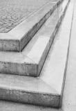 Угловой угол 3 шагов с булыжниками Стоковое Изображение RF