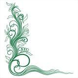Угловой флористический орнамент Стоковые Изображения