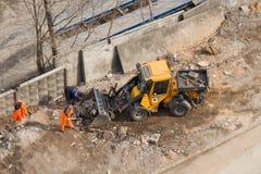 Удаление твердых частиц строительной площадки стоковое фото rf