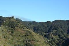 Удаленная зеленая горная цепь Стоковое Изображение RF