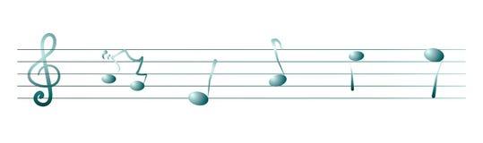 Ударяйте и примечания музыки, знамя Стоковое Фото