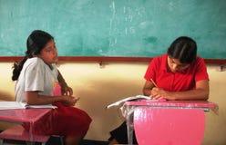 Удар бедности на образовании в плохих районах в Кубе стоковая фотография rf
