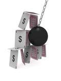 удар доллара Стоковое Изображение RF