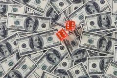 удачливейшие деньги Стоковое Изображение