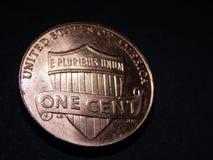 Удачливое пенни один цент Стоковое Изображение RF