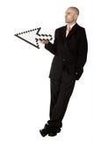 удерживание бизнесмена стрелки Стоковое фото RF
