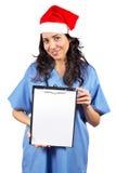 удерживание доктора clipboard женское Стоковое Изображение RF