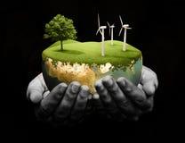 удерживание земли зеленое иллюстрация штока