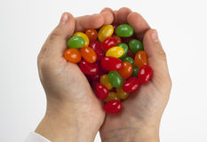 удерживание конфеты Стоковые Фото