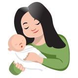 Удерживание мати ее младенец иллюстрация вектора