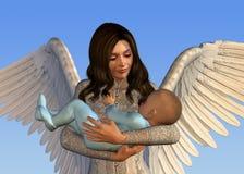удерживание младенца ангела Стоковое Изображение RF