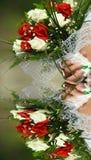 удерживание невесты букета стоковое изображение rf
