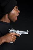 удерживание пушки гангстера Стоковое Изображение