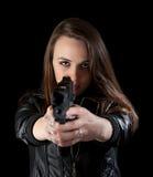удерживание пушки девушки Стоковое фото RF