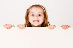 удерживание ребенка доски пустое Стоковое Изображение